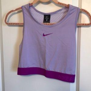 Cropped Nike Pro workout tank